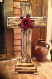 wooden craft crosses 2014 diy wooden rustic crosses with safflower crafts