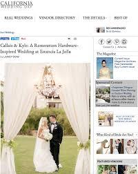 restoration hardware bridal gift registry featured california wedding day restoration hardware wedding