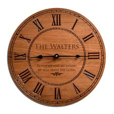 gorgeous cherry wood family 12 inch wall clock