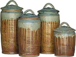 pottery canisters kitchen stoneware canister set from shaker workshops my style