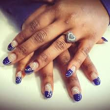 dallas cowboys inspired gel nails courtesy of pedicures remembered