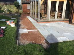 Indian Sandstone Patio by Grey Indian Sandstone Patio Redmarley Gloucestershire Pave Your Way