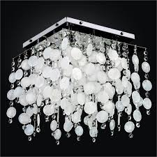 Crystal Flush Mount Lighting Capiz Shell Flush Mount Light Fixture With Crystal Cityscape