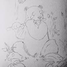 stephen s site happy thanksgiving panda sketch to finish