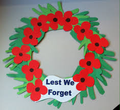anzac day wreath lest we forget anzac day pinterest