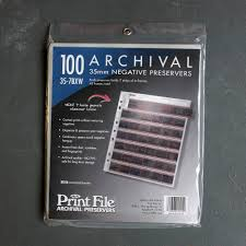 Archival Photo Pages Kenro 35mm Clear Negative Pages 100 Sheets Silverprint