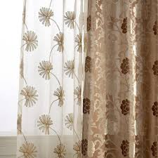 Embroidered Sheer Curtains Dandelion Embroidered Sheer Curtains
