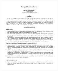 Functional Resume Layout Functional Resume Sample 9 Examples In Pdf