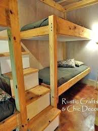 Diy Bunk Beds With Stairs Diy Bunk Beds With Stairs Cafedream Info
