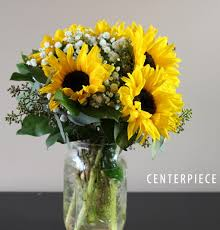 sunflower centerpiece vintage sunflower centerpiece bridal flowers to go