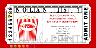 movie ticket invitation template movie ticket printable birthday