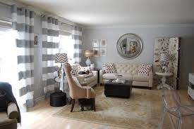 accessories grey living room decoration using stripe cream