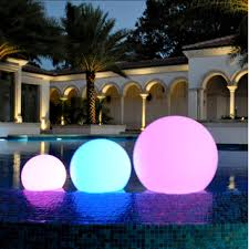 led color changing waterproof cordless outdoor light ball 40cm 16
