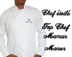 veste de cuisine personnalisé la veste de cuisinier personnalisée