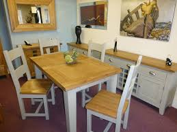 Painted Furniture Preston Oak Furniture Leyland Painted - Oak dining room table chairs