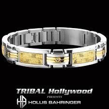 bracelet gold man stainless steel images Stainless steel bracelets for men tribal hollywood jpg