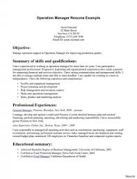 manager resume exle extraordinary operations manager resume 6 1a summary india objective