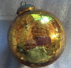 large 5 kugel midwest glass ornament gold