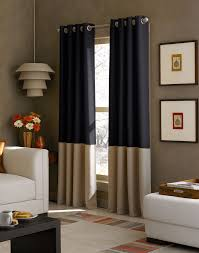 kendall color block grommet curtain panel curtainworks com