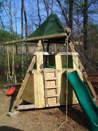 Backyard Play Forts by Build Your Own Wooden Playground Includes Materials List Photos