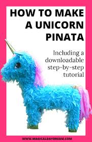 how to make a unicorn piñata out of an old shoebox and leftover