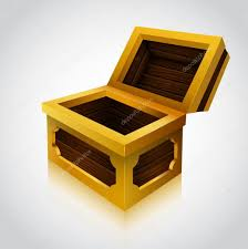 illustration of an wooden treasure chest empty variant u2014 stock