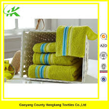 promotion bright color with colourful stripe border face towel