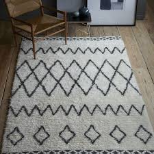 How To Crochet A Rug Out Of Yarn Kasbah Wool Rug Ivory West Elm