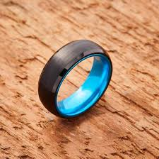 blue tungsten rings images Embr black tungsten ring band resilient blue jpg
