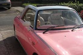 nissan figaro interior saying goodbye to my pink nissan figaro right from the start