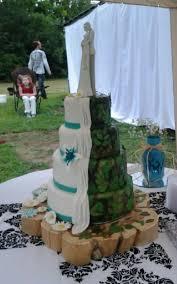 turquoise wedding camo grooms cake caitycakes4u pinterest