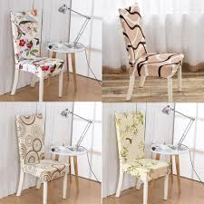 stretch dining room chair covers 24 color printed 4pcs fashion home u0026 living dining chair covers
