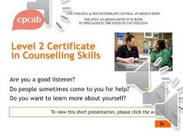 Cpcab Counselling Skills And Studies Level 3 Certificate In Counselling Studies To View This