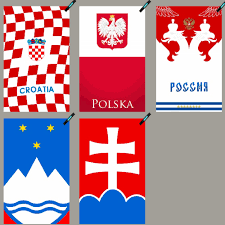 Slovak Flag Croatia Poland Russian Slovakia Slovenia Hockey Sports Towel