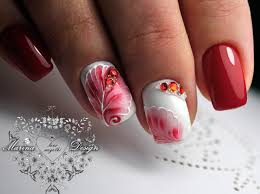 маникюр видеоуроки art simple nail маникюр веточки листики
