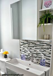 Modern Bathroom Vanity by Remodelaholic Modern Bathroom Update