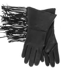 ladies motorcycle gloves western fringe deerskin gauntlets by geier glove free usa