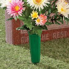 cemetery vase cemetery vases set of 2 cemetery flower vases kimball