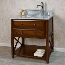 Glass Vanity Sinks Bathroom Vanity With Vessel Sink Image Of Beautiful Painting Oak