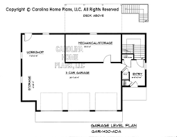 garage floor plans with apartments small budget garage apartment plan gar 1430 ad sq ft small