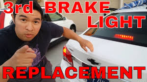 chevy cruze third brake light replacement tutorial youtube