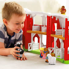 Toy Barn With Farm Animals Little People Animal Friends Farm Shop Little People Toddler