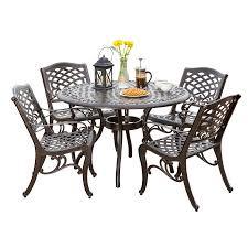 noble house bronze 5 piece cast aluminum bronze outdoor dining set