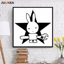 rabbit poster aliexpress buy black white miffy bunny rabbit wrench repairs