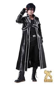 amazon com sword art online sao anime kirito mens cosplay jacket