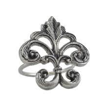 wholesale fleur de lis napkin ring dii design imports