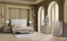 Tufted Bedroom Sets Classic Style Button Tufted Queen Size Metallic Bedroom Sets On