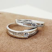 marriage rings images Cute personalized couples silver marriage rings for 2 personalized jpg