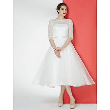 tulle wedding dresses uk a line wedding dress ivory tea length bateau lace tulle cheap