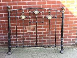 victorian cast iron bed head restoration project in standish
